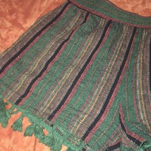 Pants - Linen tassel shorts SOLD